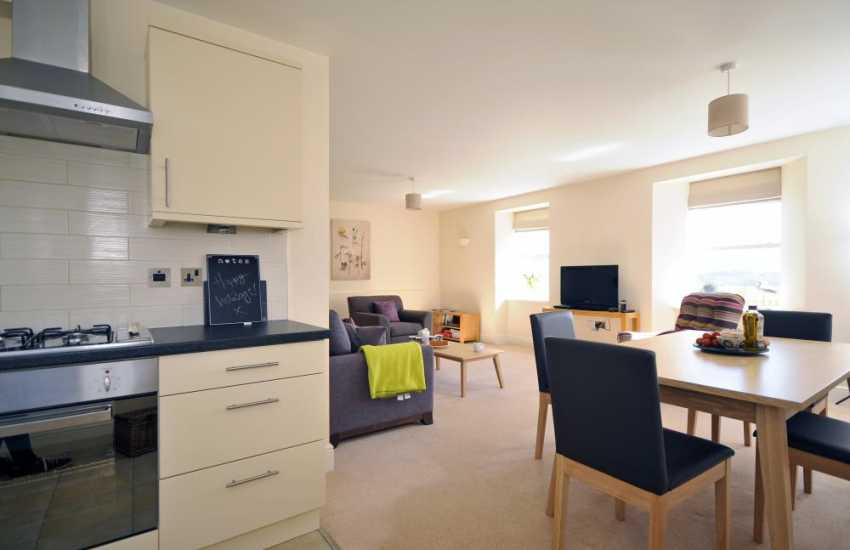 North Wales holiday apartment-kitchen/dining