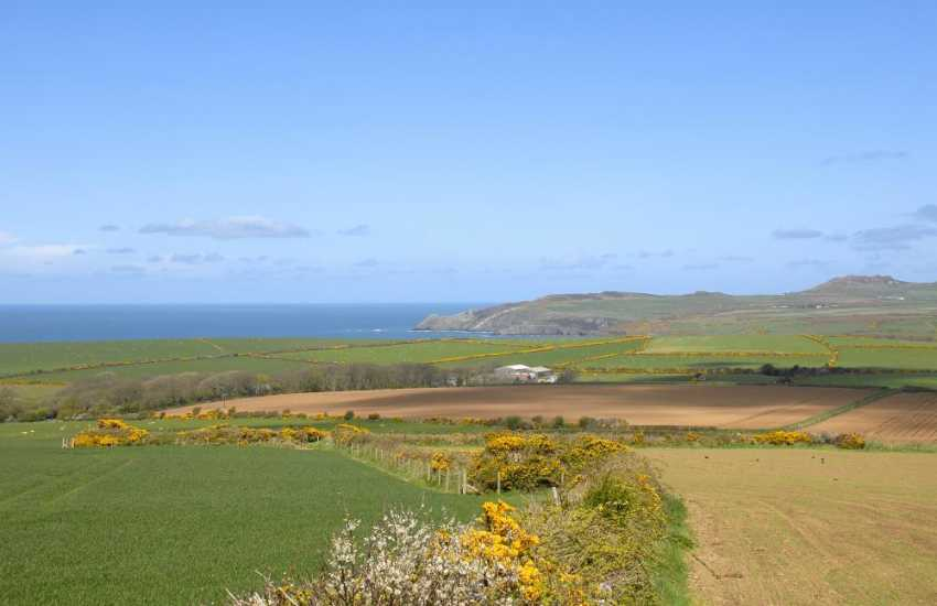 Enjoy panoramic views from Y Garth to the coast and Strumble Head