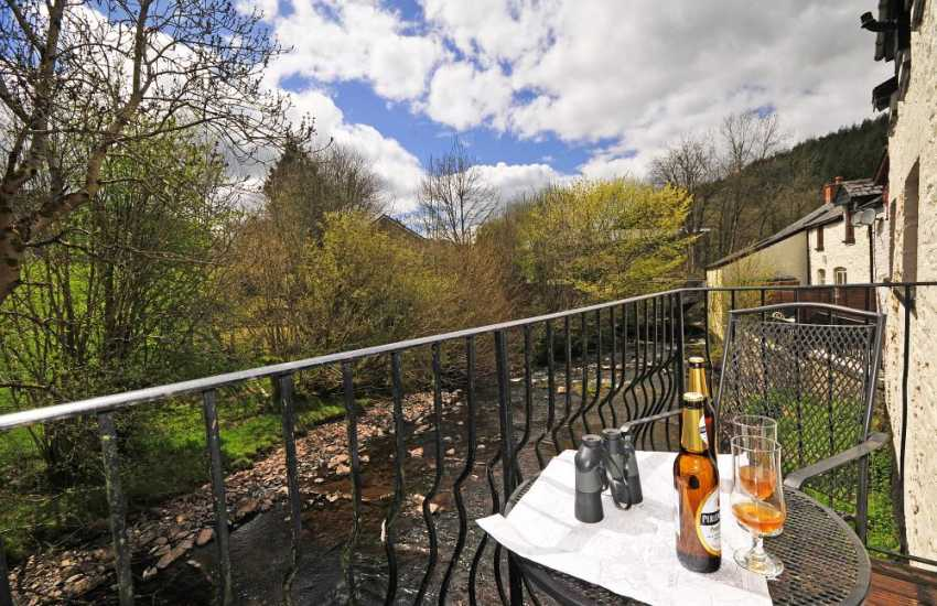 Brecon pet friendly cottage with wifi  - balcony