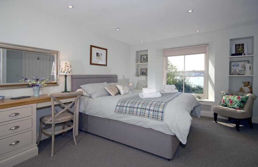 Luxury Pembrokeshire holiday home - king size master bedroom with river views