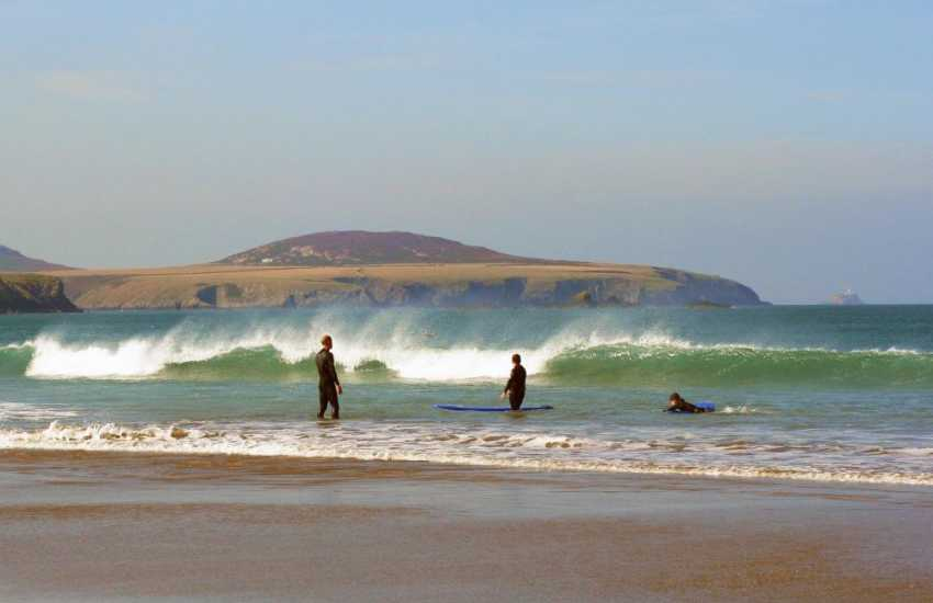 Whitesands Bay (Blue Flag) - this spectacular sandy beach, popular with families and water-sport enthusiasts is a 300 yd walk from the cottage