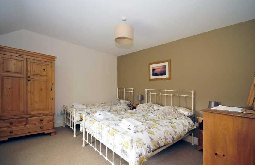 Family bedroom at this holiday cottage on the Lleyn Peninsula