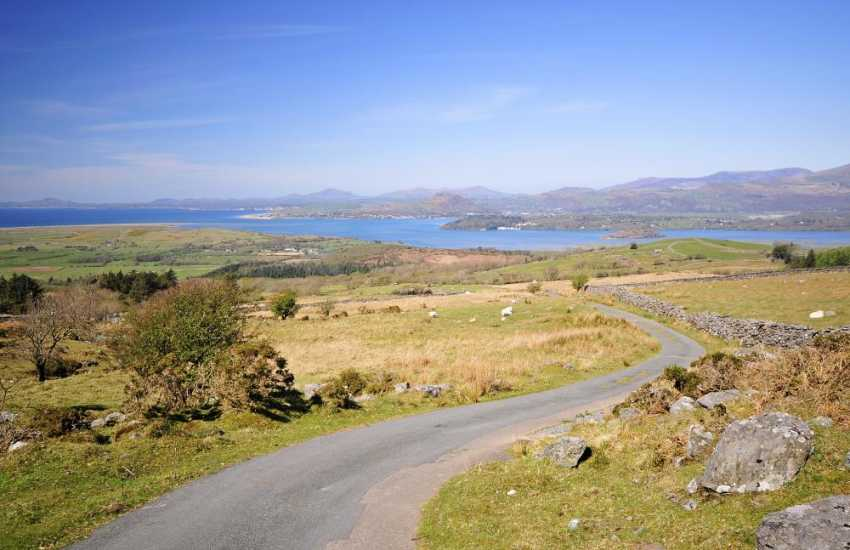 Views of Lleyn, Snowdonia and Harlech from holiday cottage
