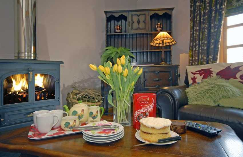Tea and cake in this cosy Welsh cottage near the Pembrokeshire coast