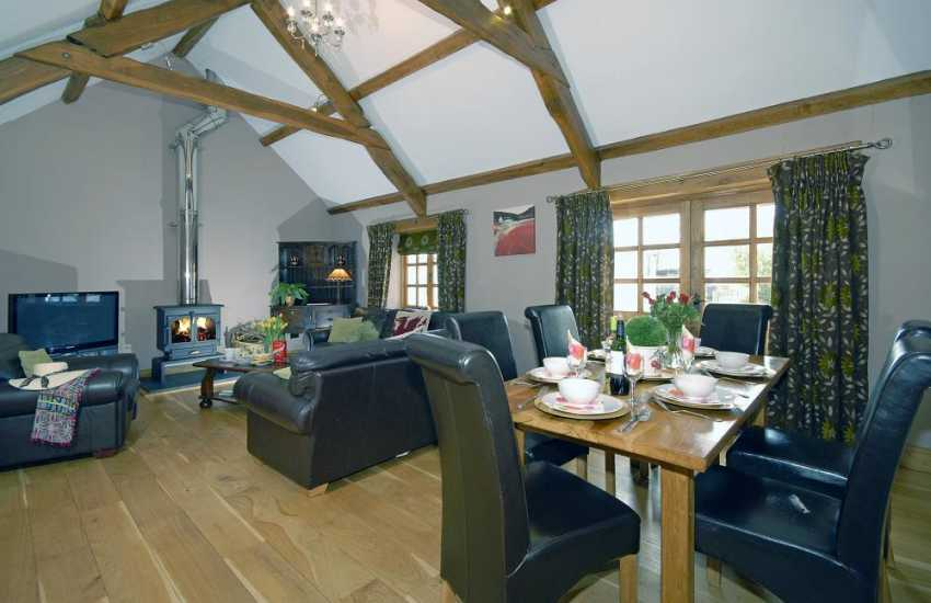 Newport, Pembrokeshire holiday cottage with open plan living area