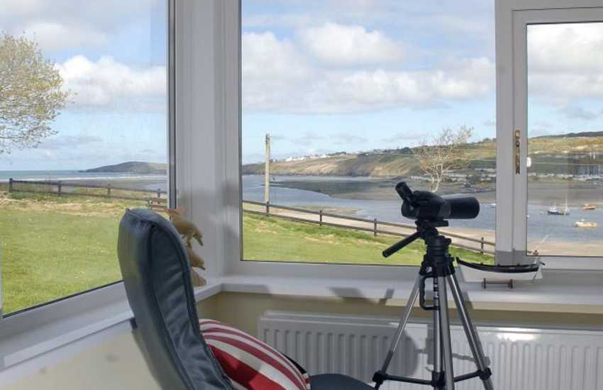 Poppit Sands holiday home - stunning sea and estuary views through the windows
