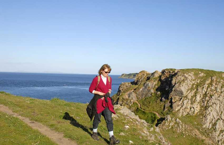 Walk along the Pembrokeshire Coast Path for stunning cliff top scenery and fresh sea air