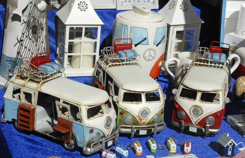 VW Camper Vans - lots of interesting little craft shops in Pembroke for all your holiday souvenirs