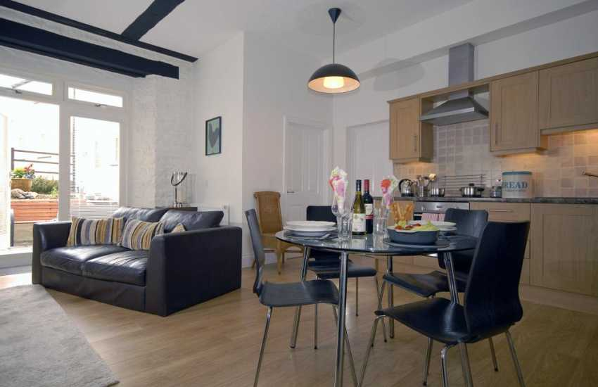 Pembroke self-catering apartment - spacious kitchen/diner/living room