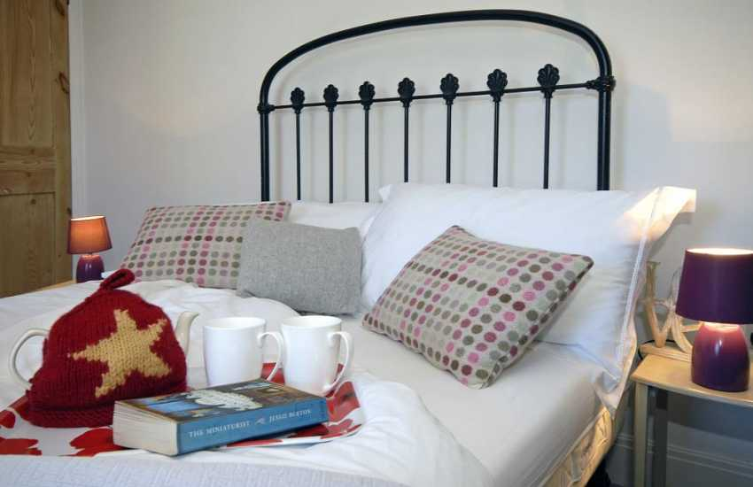 Romantic Pembrokeshire cottage master bedroom