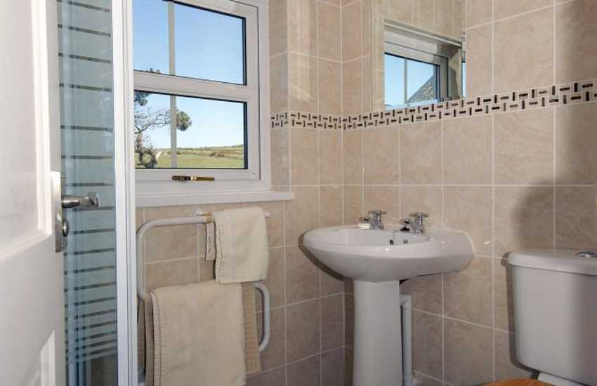 Strumble Head holiday cottage - master en-suite shower