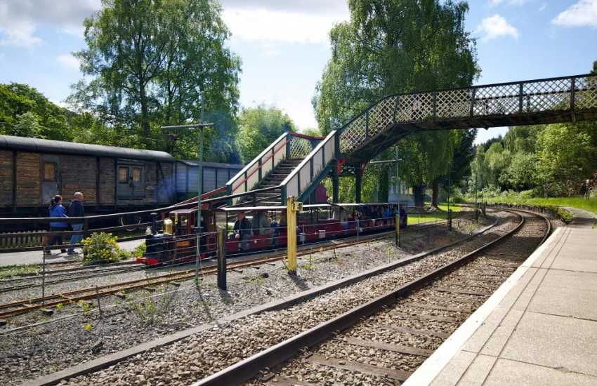 Miniature steam train rides for all the family in Betws y Coed