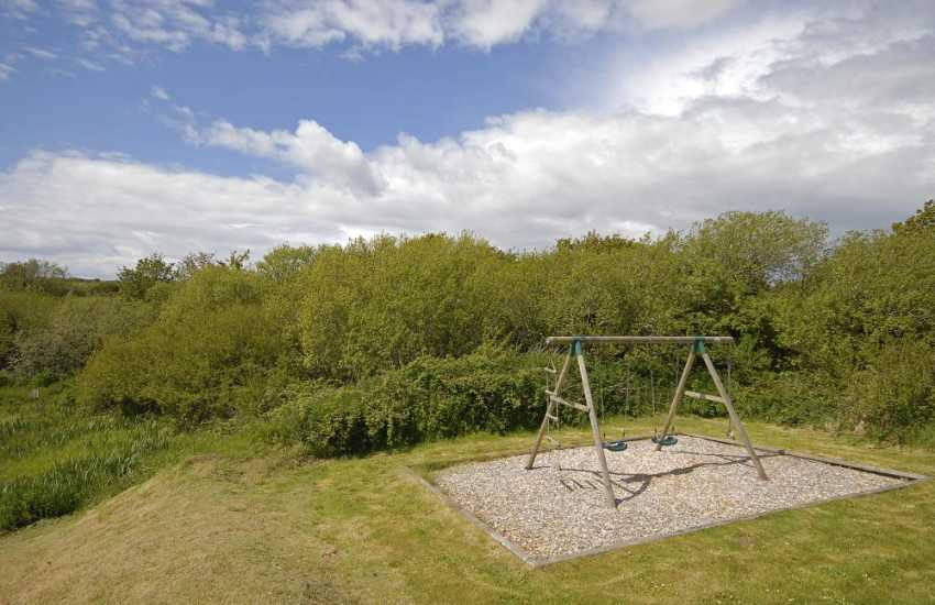 St Davids family holiday cottage with large gardens and swings