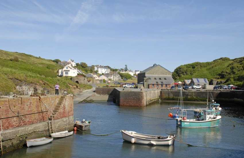 Porthgain is a popular picturesque fishing harbour famed for 'The Sloop Inn' and excellent art galleries