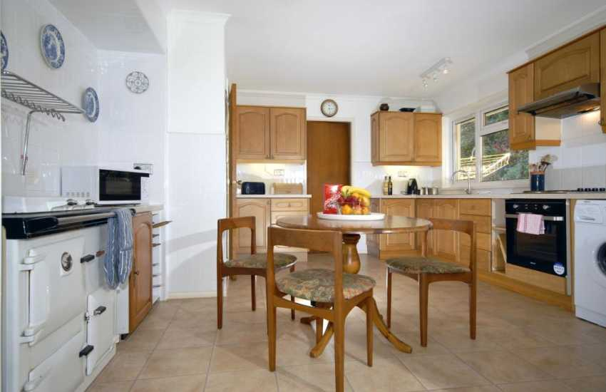 Self-catering cottage in Aberporth - kitchen with Rayburn