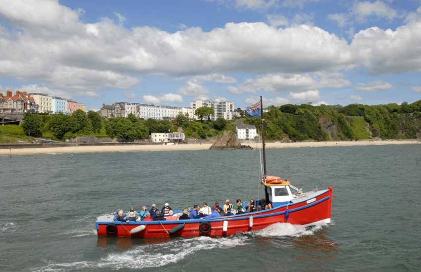 Take a short boat trip from Tenby Harbour to Caldey Island - home to Cistercian Monks and famous for its perfume