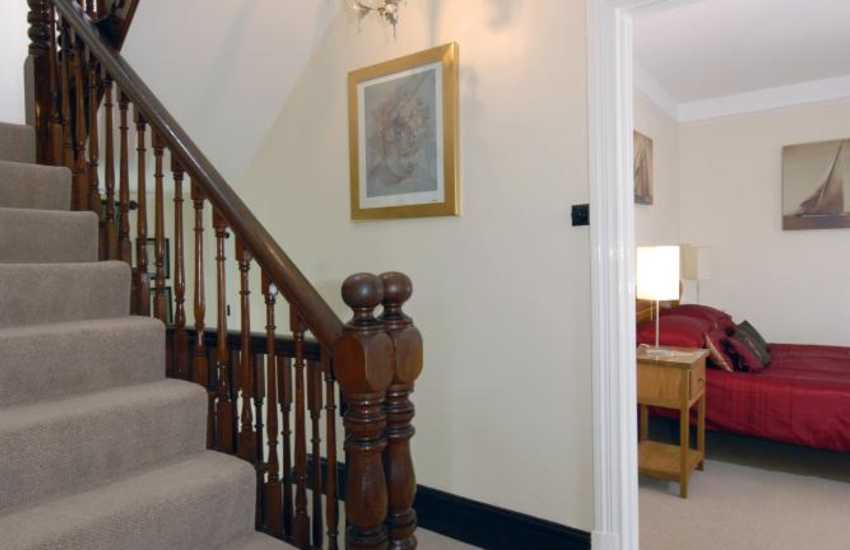 Period holiday home in Tresaith - turning stairwell