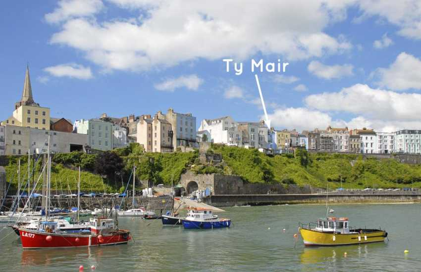 Tenby - Georgian town house overlooking the North Beach and harbour