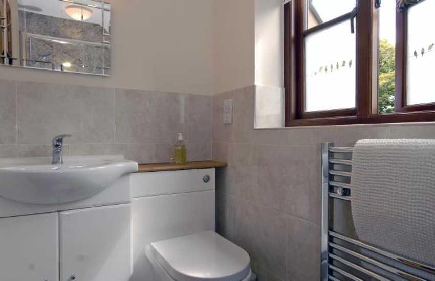 master en-suite shower in cottage in Pembrokeshire