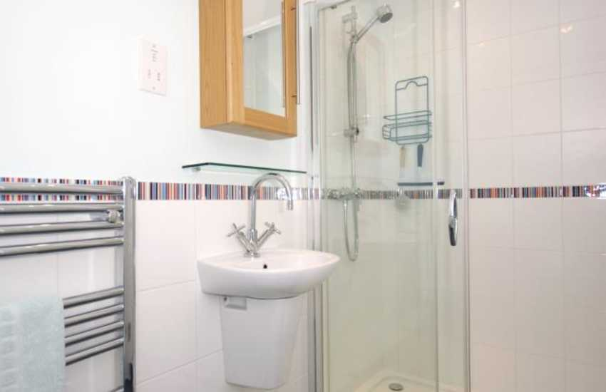 Newport holiday house - master en-suite shower room