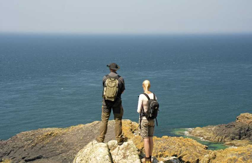 Walk the Pembrokeshire Coast Path and majestic cliff top headlands for superb coastal scenery