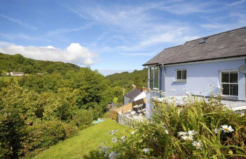 Llanachayer holiday home over looking the Gwaun Valley - gardens