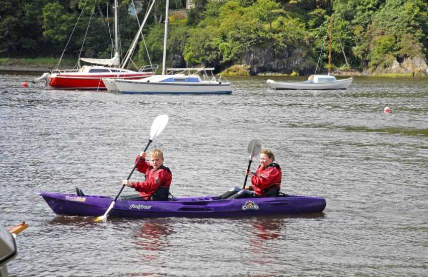 'Kayak King' offers trips for both beginners and experts out to explore the cliffs and caves of Pembrokeshire coastline