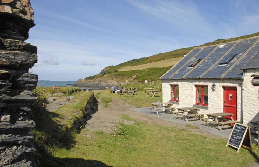 Dinner at The Old Sailors, Pwllgwaelod - enjoy superb summer sunsets, perfectly accompanied by local fresh fish and seafood