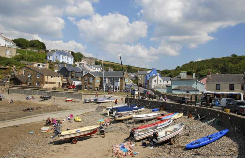 Walk from Broad Haven North round to Little Haven at low tide - both seaside villages are popular with families