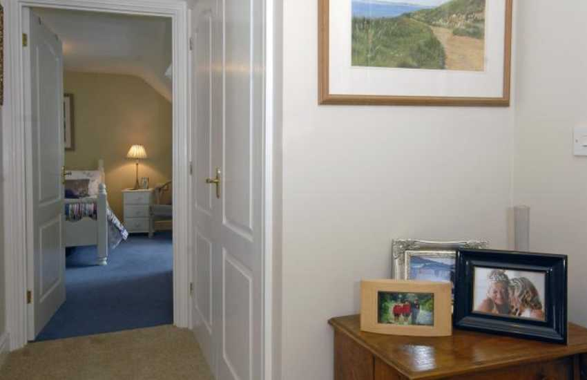 Family holiday home near the Pembrokeshire coast - landing