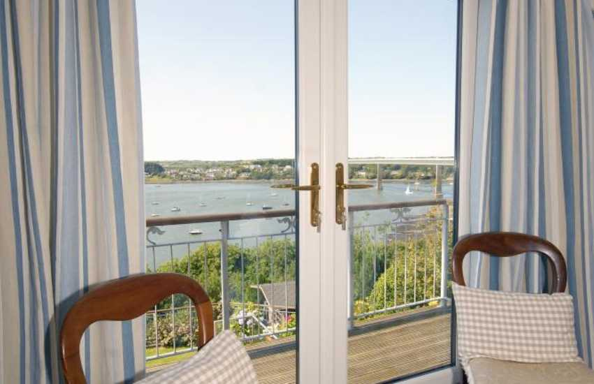 Pembrokeshire holiday home - King size master with balcony and river views