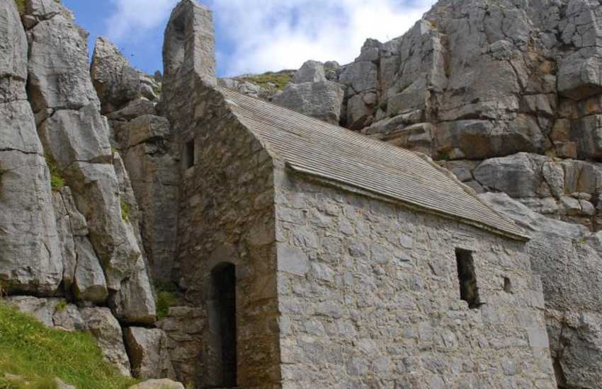St Govans Chapel - a tiny 6th century hermitâ??s cell built into the cliffs near Bosherston