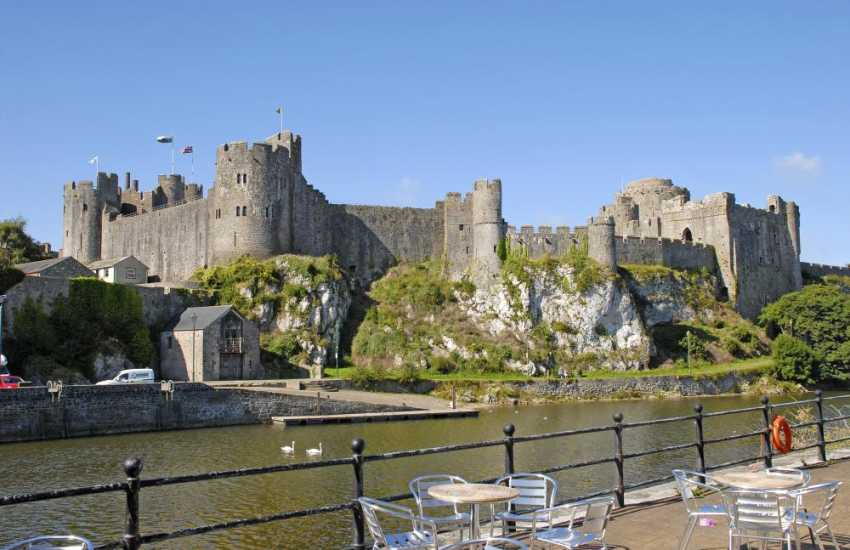 Medieval Pembroke Castle was the birthplace of Henry VII. Falconry displays, music festivals and historical events take place throughout the year