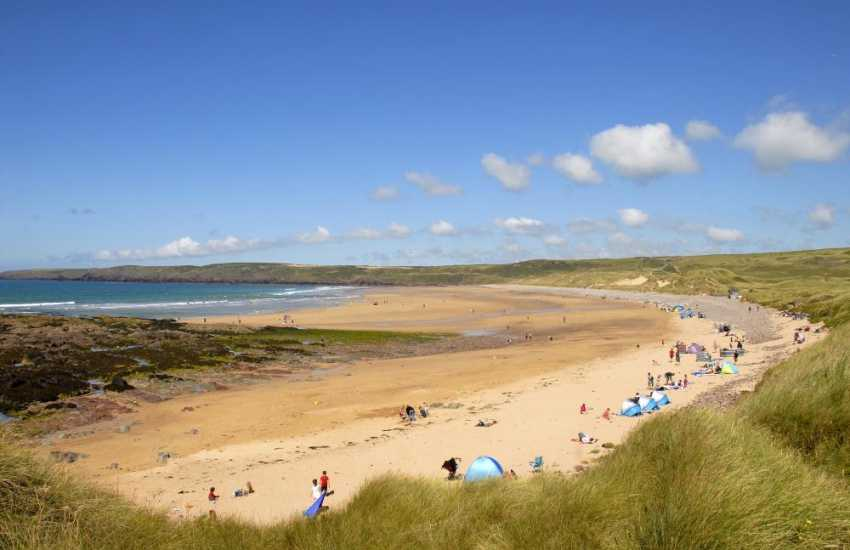 Freshwater West, Pembrokeshire - a wide sandy beach and one of the best for surf in Wales