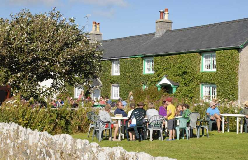 Ye Olde Worlde Cafe, Bosherston - enjoy tea and home made cake on the lawns after a walk round the Lily Ponds