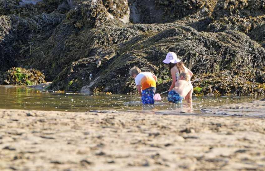Rock pools on Aberffraw beach
