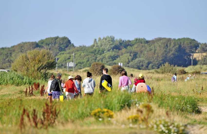 Aberffraw beach is accessed via a beautiful 10 minute walk through the sand dunes