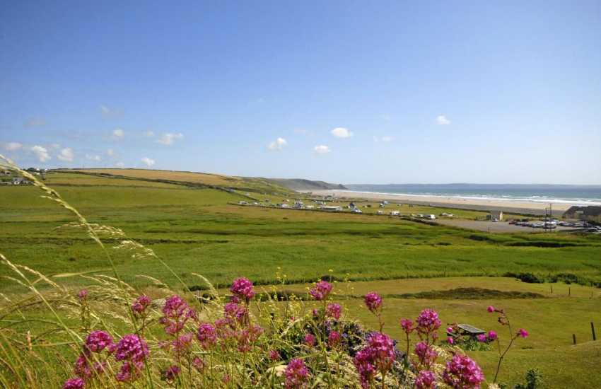 Views of Newgale beach from Hillside house