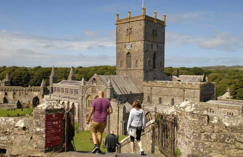 St Davids cathedral is a must to visit whilst on holiday. Britain's smallest city has a variety of shops, pubs, restaurants and cafes to choose from