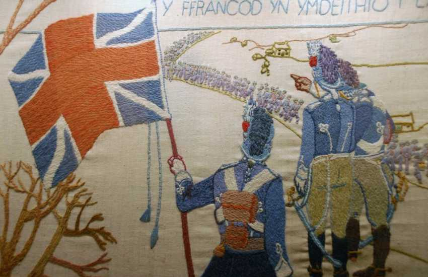 Fishguards Town Hall is home to the Last Invasion Tapestry. At 30 meters long it took 70 people 3 years to create it