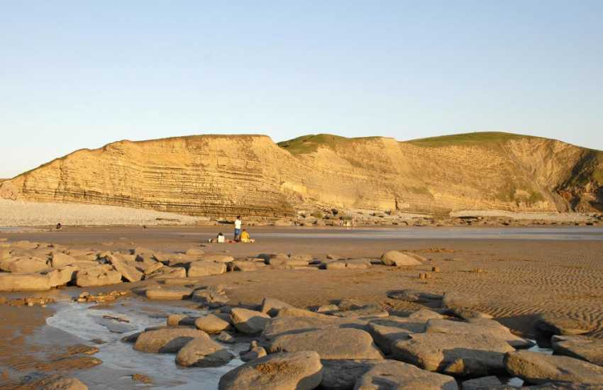 Dunraven Beach on The Glamorgan Heritage Coast - popular with families, fisher folk and water sport enthusiasts