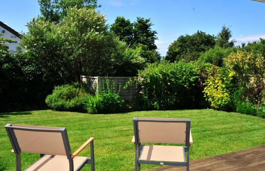 Small very pleasant enclosed garden at Newport holiday home