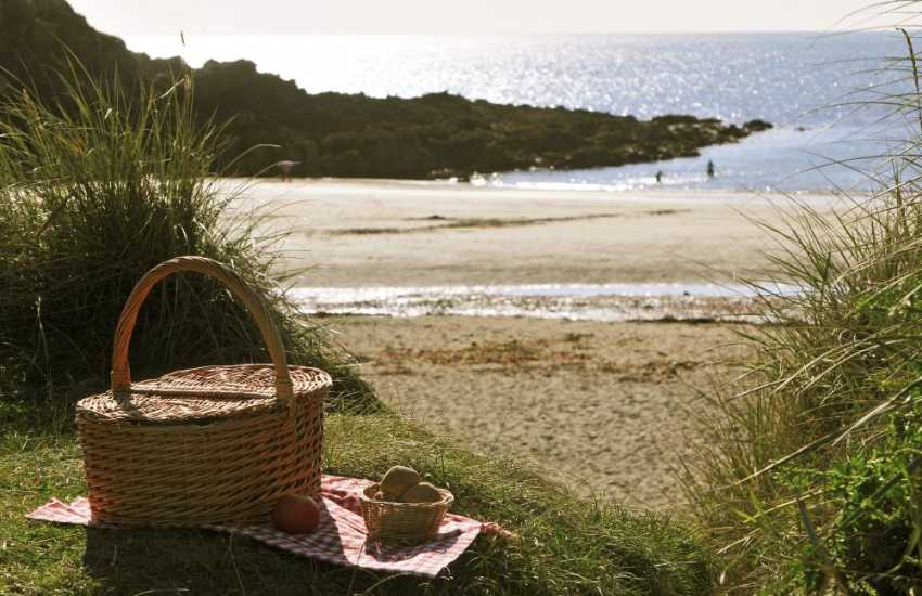 Cable Bay Anglesey, a great spot for a picnic