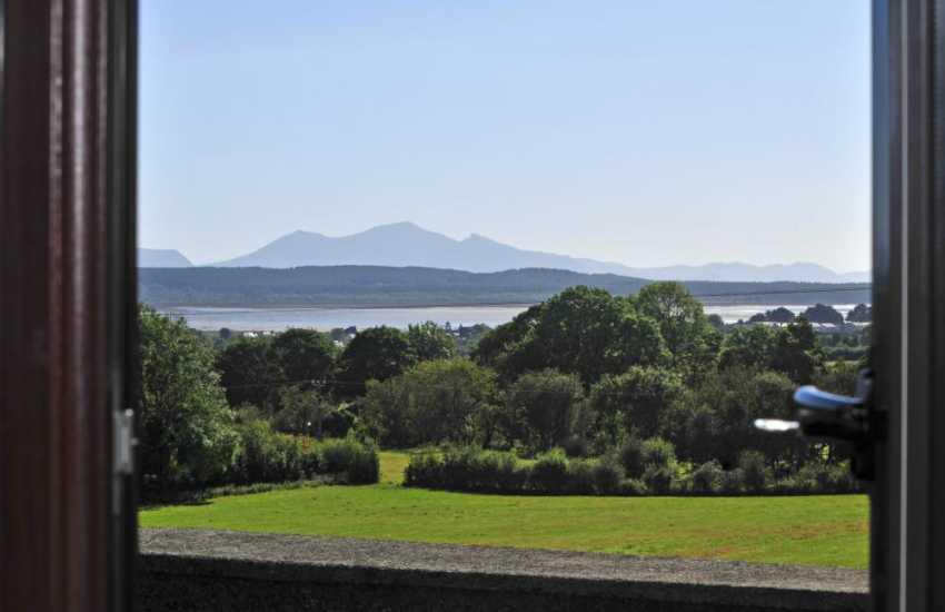 Views of Snowdonia, Newborough & Malltraeth from the bedroom