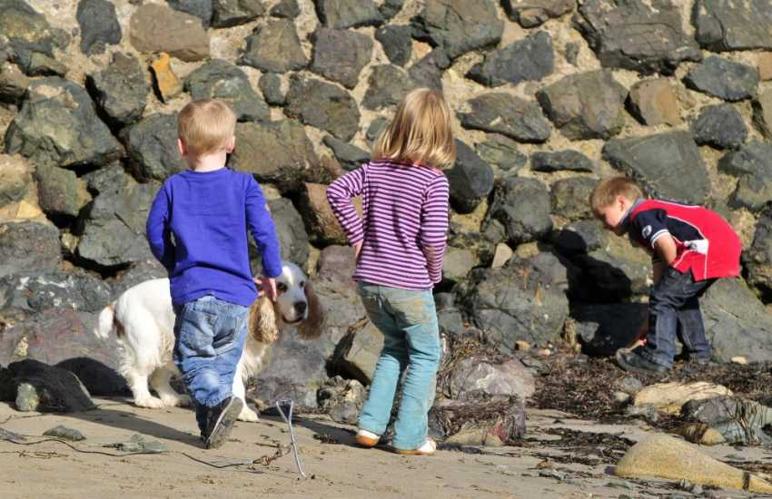Porthdinllaen beach, fun for all the family