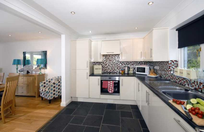 Self-catering holiday home South Pembrokeshire - open plan kitchen/diner