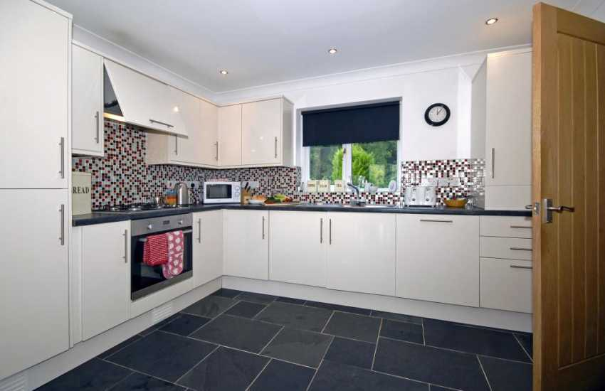 Self-catering house South Pembrokeshire - luxury modern kitchen