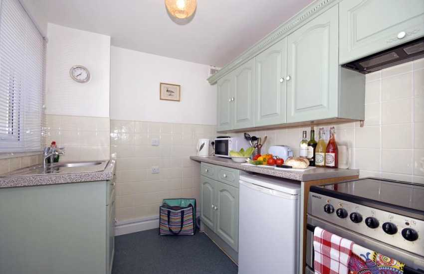 Self catering family holiday home Newport - galley kitchen