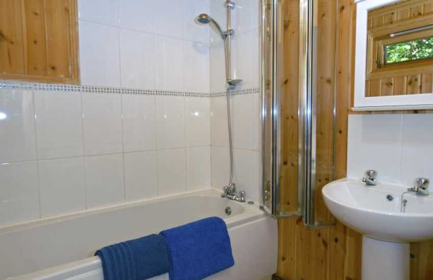 Pembrokeshire Coast holiday log cabin - bathroom