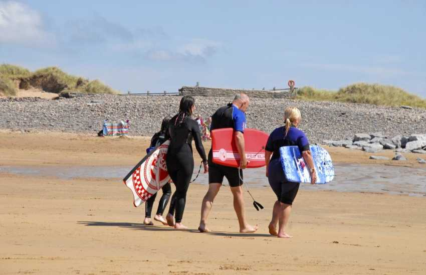 Newgale Beach - one of the best for enjoying the surf in West Wales